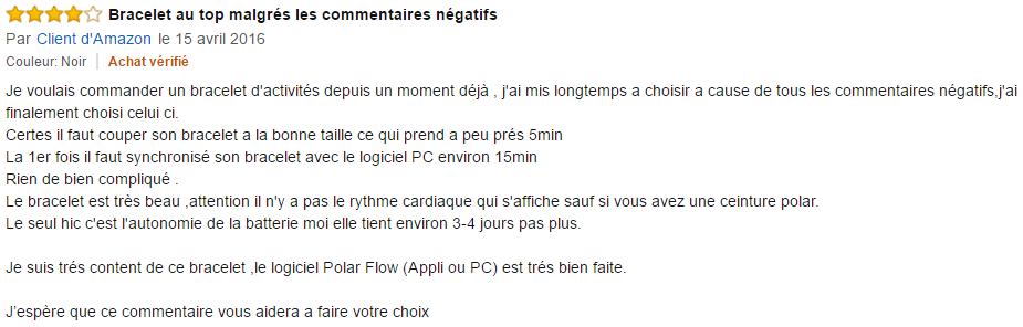 Avis POLAR Loop 2
